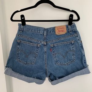 Levi's size 10 High Waisted cut off Jean Shorts